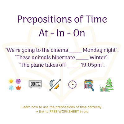 Prepositions - at, in, on