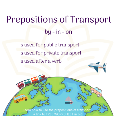 Prepositions of transport