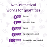Non Numerical Words for Quantities