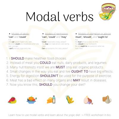 Yogic Diet - Modal Verbs